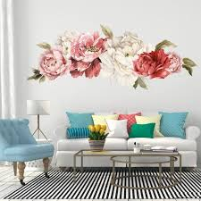 Flower Decals Large Pink And Red Flower Decals Wall Stickers Etsy In 2020 Decor Floral Wall Decals Home Decor