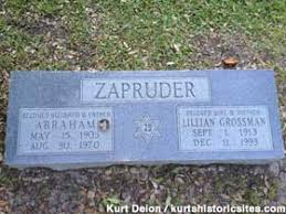 Grave of Abraham Zapruder: He Filmed JFK's Assassination, Dallas, Texas