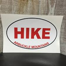 Hike Arbuckle Mountains Car Decal Bromide Mountain Company