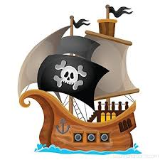 Pirate Wall Decal Jolly Roger Pirate Ship Wall Sticker Kids Bedroom Home Decor Available In 8
