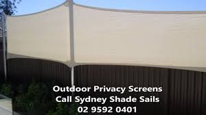 Privacy Screens Outdoor Call 02 9592 0401 Sydney Shade Sails Youtube
