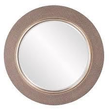 round silver accent mirror rosdorf park