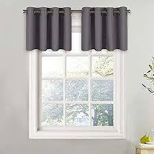 1 Pack Black Nicetown Blackout Living Room Valances Home Decoration W52 X L18 Inches Ascot Pole Pocket Window Treatment Tier For Boy Kids Bedroom Kitchen Bathroom Bay Window Draperies Curtains Window Treatments