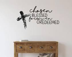 Forgiven Wall Decal Etsy
