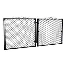 Yardgard 10 Ft W X 4 Ft H Black Drive Through Steel Gate Gda1048pbl The Home Depot Steel Gate The Home Depot Steel