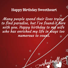 birthday quotes for wife wish her love wishes for all