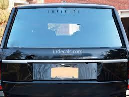 1 X Infiniti Sticker For Windshield Or Back Window Black Indecals Com