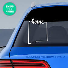 New Mexico State Home Decal Nm Home Car Vinyl Etsy