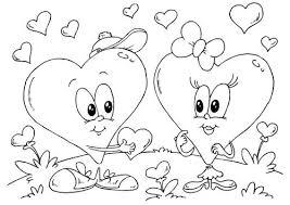 Kleurplaat Hartjes Valentijn Kleurplaten Disney Kleurplaten