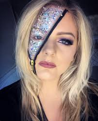 halloween makeup look that looks cool