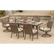 cast aluminum sunbrella patio dining