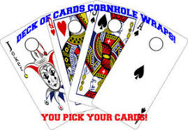 Playing Cards Cornhole Wraps Vinyl Deck Of Cards Decals Ebay