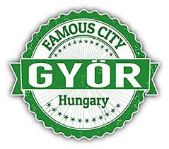 Collectibles Gyor City Hungary Grunge Travel Stamp Car Bumper Sticker Decal 5 X 4 Decals Stickers