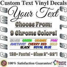 Chrome Custom Vinyl Lettering Text Decal Car Truck Boat Rv Trailer Garage Home Ebay