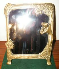 vintage art deco style solid brass