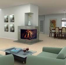 corner fireplace design