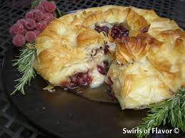 phyllo wrapped brand cranberry baked