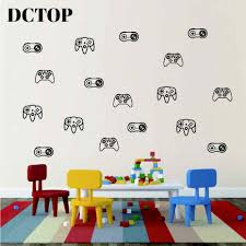 Creative Game Console Psp Xbox Sticker Children Boys Art Vinyls Fake Gaming Wall Decals For Kids Room Bedroom Home Decor Mural Aliexpress