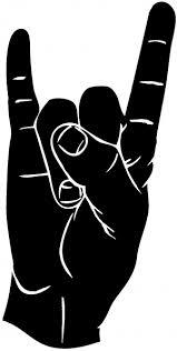 Rock N Roll Hand Gesture Car Or Truck Window Decal Sticker Rad Dezigns