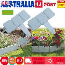 100x Stone Effect Plastic Garden Fence Panels Lawn Edging Yard Plant Border For Sale Online
