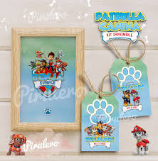 Kit Imprimible Patrulla Canina Paw Patrol Pirulero