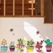 Shop Flower Pot Decals On Wanelo
