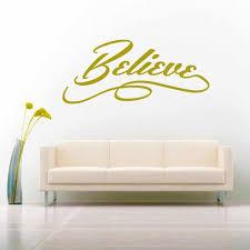 Believe Vinyl Car Window Decal Sticker Inspirational Motivational Decal