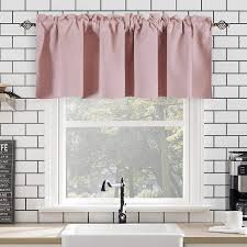 Amazon Com Girls Room Baby Pink Valance 18 Inch Blackout Valances Short Curtains For Kids Room 1 Panel 52 Inch Width 18 Inch Length Kitchen Dining