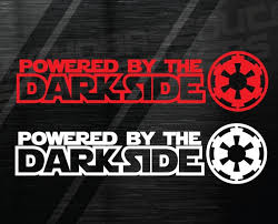 Powered By Dark Side Star Wars Decal Window Sticker Darkside Etsy