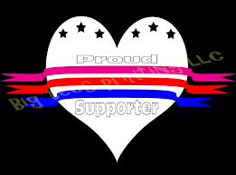 Supporter Of The Pink Blue Red Ribbon Line Outdoor Window Decal Sticker Love Hope Support Big Tees Printing Online Store Powered By Storenvy