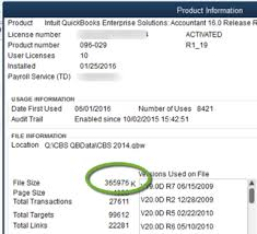 file size really matters in quickbooks