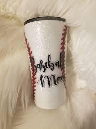 Baseball Mom In 2020 Glitter Tumbler White Glitter Baseball Mom