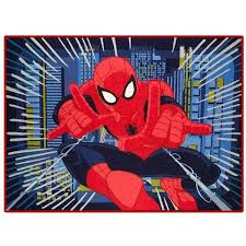 Robot Check Kids Rugs Spiderman Superhero Room