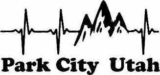 Park City Utah Ekg Mountain Window Decal Bumper Sticker 8 X 4 Fast Shipping 2 49 Picclick