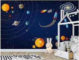 Waliicorners Custom Mural 3d Photo Wallpaper Space Solar System Children S Room Home Decor 3d Wall Murals Wallpaper For Wall 3 D Waliicorner S Store