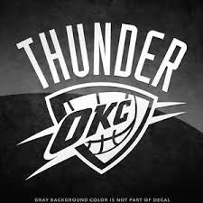 Oklahoma Thunder Logo Vinyl Decal Sticker 4 And Larger 30 Color Options Ebay