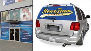 One Way Vision Car Window Signs Retail Window Graphics