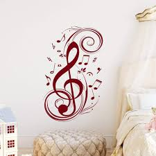 Large Music Note Wall Decals Art Stickers Hobby Lobby Quotes Christian Dandelion Staff Vamosrayos