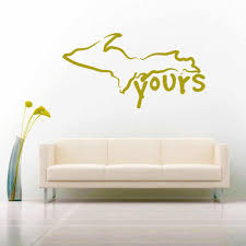 Michigan Up Yours Upper Peninsula Vinyl Car Window Decal Sticker