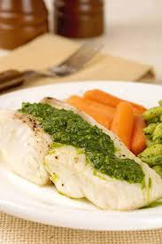 Broiled Halibut with Kale Pesto Recipe ...