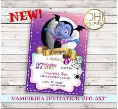 Vampirina Invitacion Cumpleanos Partido Vampirina Vampirina