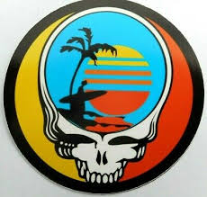 Grateful Dead Endless Summer Steal Your Face Decal Sticker 4 X 4 Round Ebay
