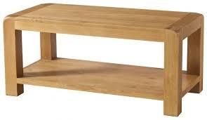 avon oak coffee table with shelf old