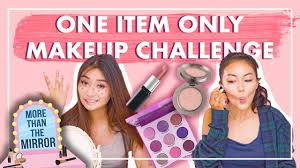 one item only makeup challenge you