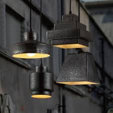 light pendant lighting in wrought iron