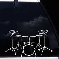 Buy 2 Pieces Car Sticker Rock Drum Kit Pattern Waterproof Removable Decal Car Sticks Decals At Jolly Chic