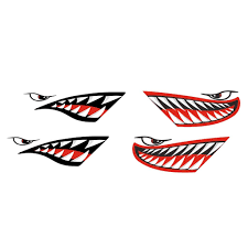 Buy Fenteer 4 Pieces Vinyl Large Shark Teeth Mouth Funny Decals Stickers For Kayak Canoe Fishing Boat Dinghy Car Bumper Truck Window Graphics Accessories In Cheap Price On Alibaba Com