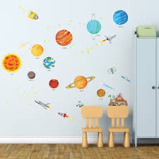 Shop The Solar System Peel And Stick Nursery Kids Wall Vinyl Decals Overstock 17620555