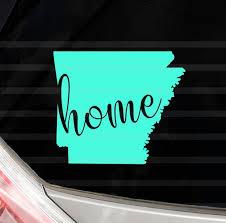 Custom Arkansas Home Vinyl Decal Arkansas State Yeti Cup Decal Etsy