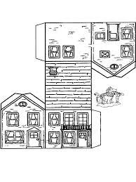 Huis Knutselen 2 Kleurplaat Huizen